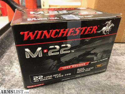 For Sale: Winchester M22 22 LR 1000 rounds box