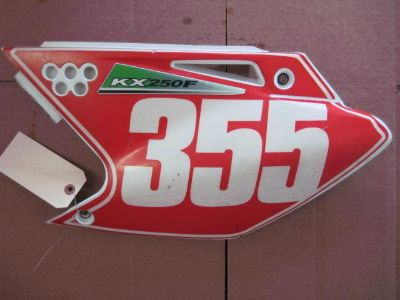 Purchase 2006 Kawasaki KX 250 F Left Side Number Plate motorcycle in Shelbyville, Kentucky, US, for US $24.99