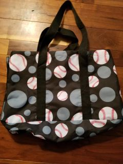 Brand new baseball tote with side pocket.