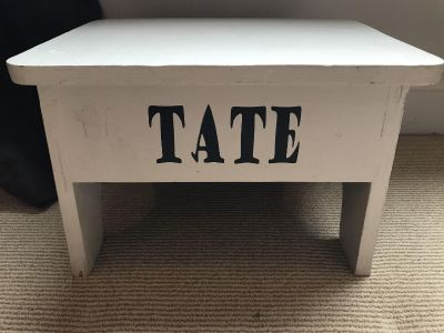 Tate step stool- can paint over it!