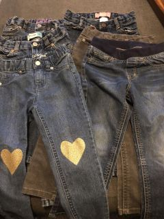 6 pairs 3T jeans