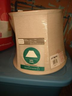 Brand new with tags lampshade linen / khaki color.