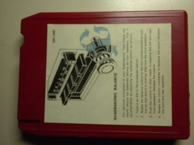 Ford Motor Co. Quadrasonic Sound for Today promo 8 track tape