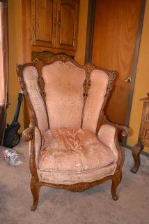 $400, Peach Color Wing Back Chair