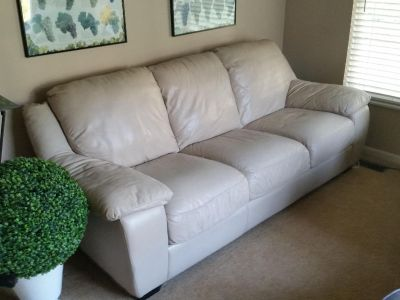 Italian Leather sofa, recliner and chair with ottoman. Used in great condition. No rips or stains. Located in a non-smoking home