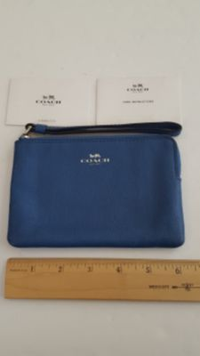Coach Wristlet Blue NWOT New without tags