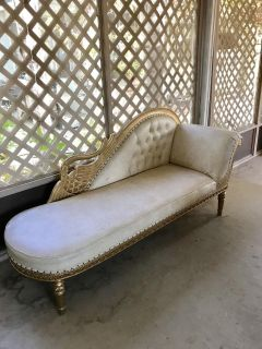 Beautiful gold accented fainting chair