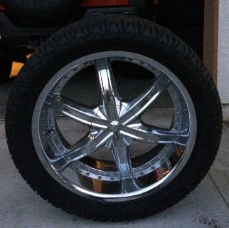Rims, Wheels, and Tires, set of 5