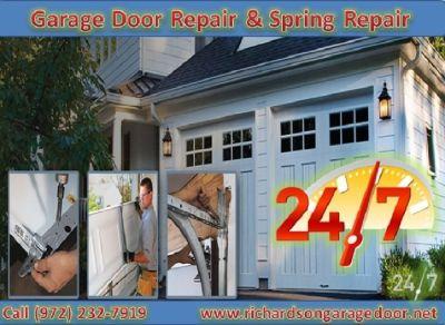 24/7 Garage Door Spring Repair & Installation Service ($25.95) Richardson Dallas, 75081 TX