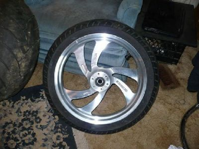 """$700 Victory Vegas JackPot Motorcycle Wheels 18""""Set front and rear"""