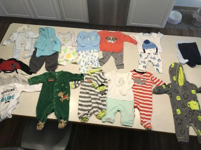 14 Newborn Boy outfits- Fall and Winter