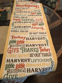Colorful percent cotton table runner