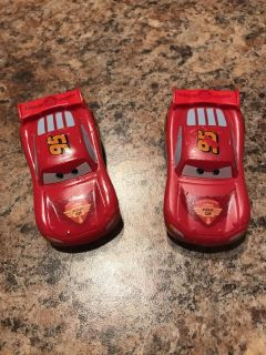 2 lighting McQueen color changing cars! Both change color with hold a cold. $1 for both