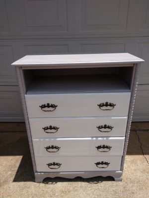 4 drawer chest of drawers w/ open top storage