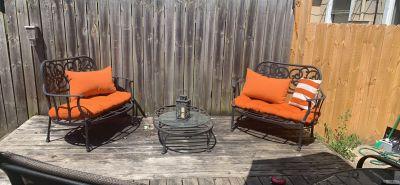 Antique rod iron patio furniture