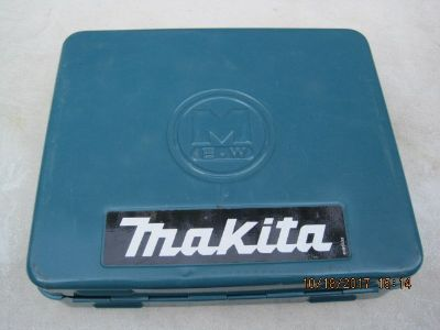 Vintage Blue Makita Metal Tool Box.Drill Not included.