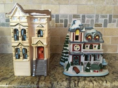 Department 56- White apt. and snow house