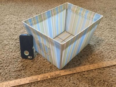 Cloth basket, some spots, no holes or rips, $1.00