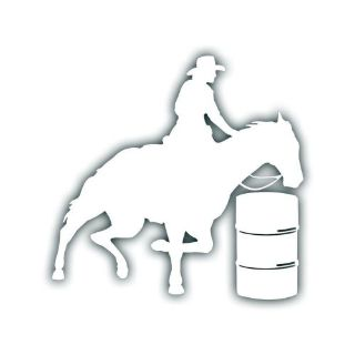 Sell HORSE BARREL RACER decal for your rodeo 4h tack box rodeo truck or trailer WHT motorcycle in Mentor, Ohio, United States, for US $5.98
