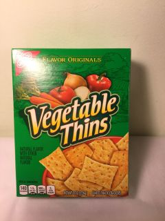 Nabisco vegetable thins crackers, expiration October 2019