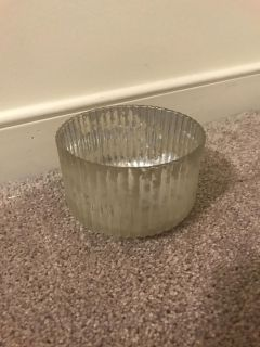Mercury silver candle holder