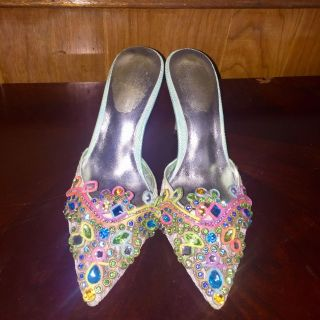 Crystal Lace Sandals Size 6