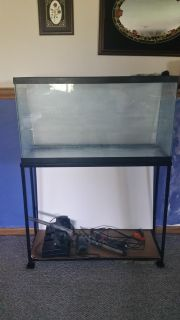 38 gallon tall fish tank with stand 38 long x 22 high x 12 wide