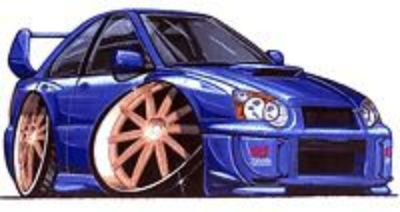 Purchase 2005 2006 Subaru Sti WRX Impreza Cartoon t-shirt -5 different colors sizes S-3XL motorcycle in New Kensington, Pennsylvania, United States, for US $11.95