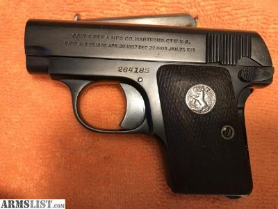 For Sale/Trade: Colt 1908 .25 Hammerless Auto