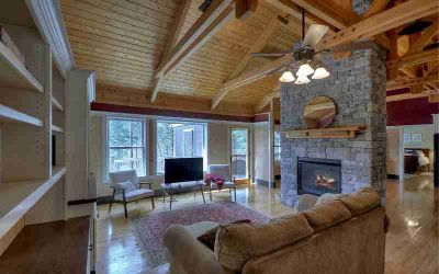 651 Riverfront Dr Ellijay Four BR, This Energy Star TIMBER TRUSS
