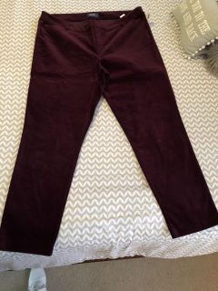 NWT sz 18 tall crushed velvet OLD NAVY mid rise pixie pants -see next pic for true color