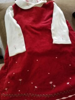 Super Cute Red Velvet dress with coordinating top