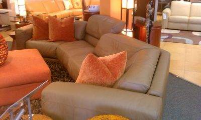 Couch sectional tan color