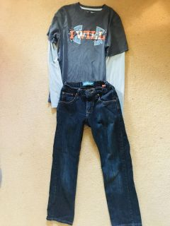 Boys size 10 ( M ) outfit-lee and under armour