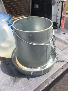 Galvanized Metal Chicken Feeders, 7 available $15 each