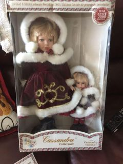 Cassandra Doll Collection Limited Edition Year 2000 - Handmade Hand Painted Porcelain Dolls.