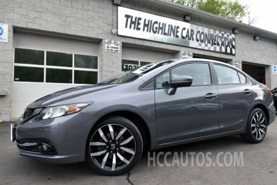 2015 Honda CIVIC SEDAN 4dr EX-L w/Navi (Modern Steel Metallic)