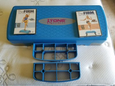 Fitness stepper and 2 Dvds
