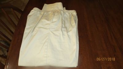 Alfred Dunner Pants Size 14 Short Misses Women's Cotton Casual Tan - New w/o Tags