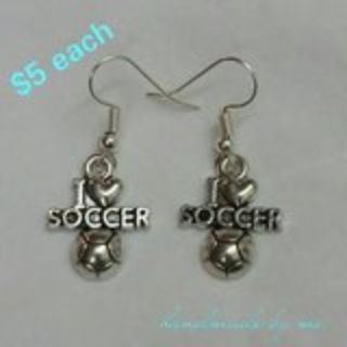 I LOVE SOCCER EARRINGS