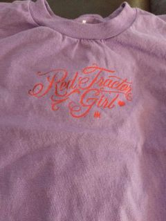 Red tractor girl baby romper 18 mo