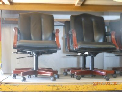 Leather chairs - office furniture