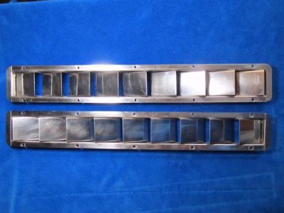 "Purchase Set of Stainless Steel Louvered Vents 22 1/8"" L x 3"" W -- Free Shipping! motorcycle in Lake Worth, Florida, United States, for US $50.00"