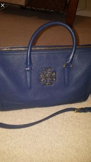 Authentic Tory Burch Britten crossbody- blue