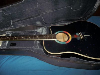 ESTABAN FIREWORKS CUTAWAY ACOUSTIC ELECTRIC GUITAR WITH CASE...