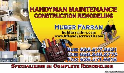 Handyman we do it all Landscaper Specialty