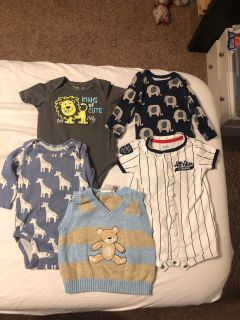 All 5 Adorable baby boy clothes 3 months $6.00