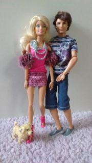 Barbie and her husband with dog