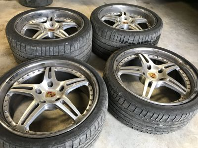 """19"""" Staggered HRE 3 Piece Forged Wheels"""