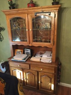 Curio Cabinet with Drawers. Storage and a Light